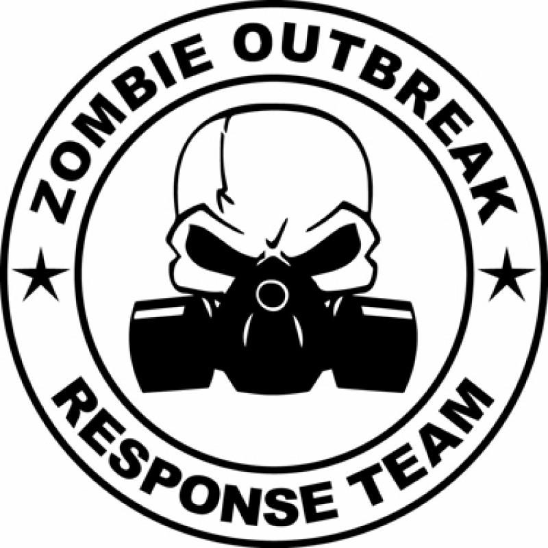 Zombie Outbreak Response Team Die Cut Sticker Decal vinyl 2x